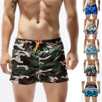 Men Summer Breathable Swim Trunks Briefs Shorts Camouflage Floral Beach Swimwear