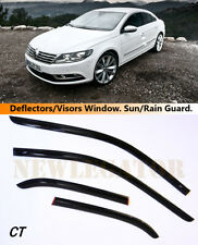For VW Passat CC I 2008-2012, Windows Visors Deflector Sun Rain Guard