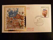 MONACO PREMIER JOUR FDC YVERT  1497    BOUQUET DE FLEURS   2,20F   MONACO  1985
