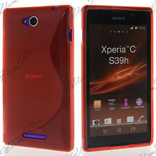 Accessories Case Cover TPU S Silicone Gel S-LINE Red sony Xperia C S39H