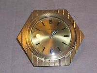 Vintage Seth Thomas Art Deco / Modern Look  Brass  Alarm Desk Clock