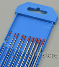 2% Thoriated WT20 Red TIG Welding Tungsten Electrode Assorted Size 1.0~3.2mm,10P