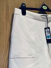 Stunning Ladies Smart 3/4 wide Trousers by Autograph M & S Size 14 Cream