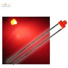 454//25# LED 5mm Grand angle rouge résistance 25pcs