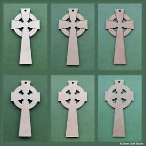 Wooden Celtic cross shapes, craft blank, cutouts, plaques ,tag, pyrography