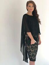 Yoren Black Goddess Lace Evening Dress