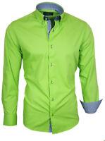 Hemd Herrenhemd Shirt Langarm Oberhemd Binder de Luxe Grün 82312