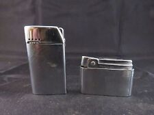 Pair of Vintage Bentley Butane Cigarette Lighters Brushed Chrome / Ribbed Design