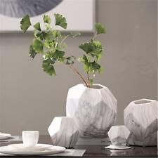 Unique Geometric Ceramic Vase Porcelain Flower Vase for Home Office Decor_S