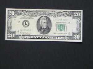1963 SERIES STAR NOTE $20 TWENTY DOLLAR FEDERAL RESERVE NOTE SAN FRANCISCO
