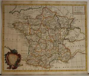 FRANCE KINGDOM OF FRANCE 1777 MOITHEY SCARCEANTIQUE ORIGINAL COPPER ENGRAVED MAP