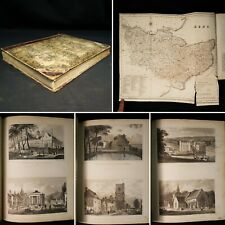 1833 Picturesque Beauties Great Britain KENT with MAP + 58 ENGRAVED MAPS Views