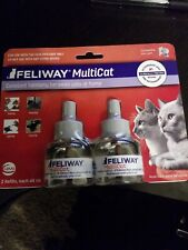 New Feliway Multicat 2 Refills For Cats 2 Months! For Ceva Diffuser Exp 2021