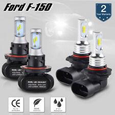 4PCS For Ford F 150 2004-2014 H13 9140 LED Headlight Hi/Lo Beam Fog Light Bulb