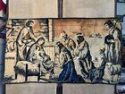 """Vintage Tapestry Nativity Scene 36"""" x 20"""""""