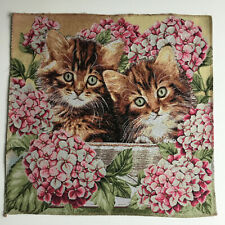 Gobelin Tapestry Panels Textile Picture Crafting Fabric Kittens 50x50