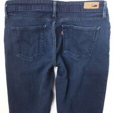 Femme Levis Demi Curve Skinny Stretch Blue Jeans W30 L34 UK Taille 10