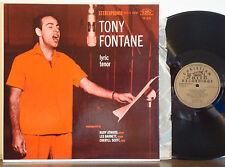 TONY FONTANE Lyric Tenor MEGA RARE 1958 CHRISTIAN FAITH STR LP Rudy Atwood Trio