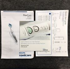 Philips Sonicare Flex Care 900 Owners Manual DVD Tooth Brush Dental Cleaning TO