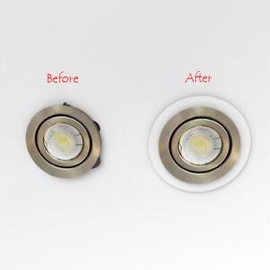 White & Silver Downlight Spotlight Surround Bezel Converter / QTY Discount