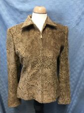"GIANCARLO FERRARI TAPESTRY ZIP Coat Jacket Size 8 Chest 44"" LINED WARM!"