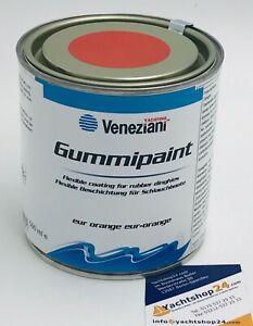 (51,80€/L) Veneziani Gummipaint Schlauchbootfarbe Gummifarbe, Rubberpaint rot