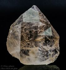 Golden Rutile Inclusions in quartz crystal Gilgit Pakistan 64 x 58 x 25 mm