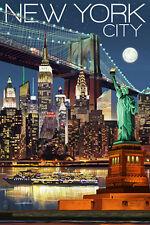 "Retro New York Travel Photo Fridge Magnet 2""x 3"" Collectibles"