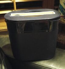 TUPPERWARE NAVY BLUE INSULATED ICE BUCKET w/ LID AND TONGS