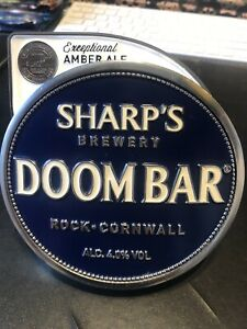 Doom Bar Amber Ale Metal Pump Clip Sharp's Brewery Rock Cornwall