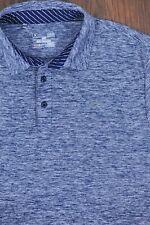 Under Armour Performance Golf Polo Shirt Heather Blue Men's Large L