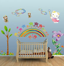 Arc-en-ciel/Hello Kitty Fille/enfants/Nursery Wall Stickers