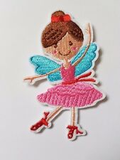 Ballerina Fairy girl Iron On Patch Sew On Transfer badge fancy Dress
