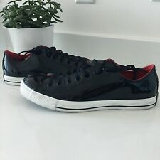 RARE Converse Chuck Taylor All Star Black Patent Leather Low Top Size 10  111133