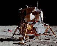 APOLLO 14 LUNAR MODULE ON THE MOON 8x10 SILVER HALIDE PHOTO PRINT