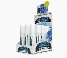 Air Freshener-Odor Eliminator - Box 12 Spray Cans - New Car Blue