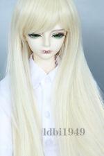 """6-7"""" 1/6 BJD Wig Dal SD MSD DOD DD Dollfie Doll Wig Long Blonde Hair 61"""