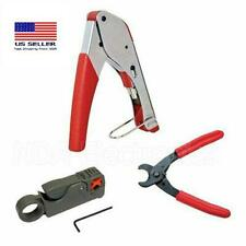 Compression TOOL Coax RG59 RG6 BNC striper wire Cutting Pliers Cable Tool Kit