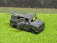 H0 1:87  Ford Transit 1978 Oldtimer Scheunenfund Wrack Laser Cut Gealtert Rost