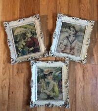 Vintage Framed Cherry Jeffe huldah Signed Young Women Art