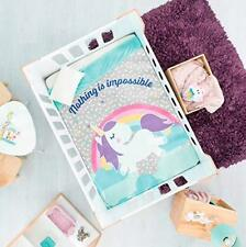 Rainbow Clouds Unicorn Adorable Design Baby Girls Nursery Crib Blanket Sherpa