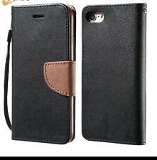 Wallet Case For iPhone 7 Plus Card Slot Holder Magnetic Black Cover USA Seller!