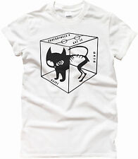 SCHRODINGER'S CAT IS ALIVE DEAD FUNNY T SHIRT SHELDON BIG BANG GEEK SCIENCE TOP