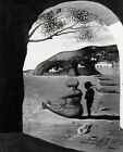 Print - Mysterious Mouth Appearing by Salvador Dali (B&W)