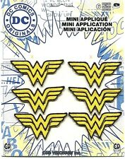 WONDER WOMAN ww logo 6 EMBROIDERED MINI PATCH SET **Free Shipping** c pdc129s dc