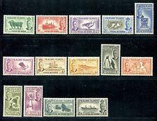 Falkland Islands 107-120 MH 1952 Definitive set of 14 Landscapes  x20295