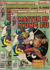 54 COMICS back to the 70's, Master of KUNG-FU #49-51, 1st listing