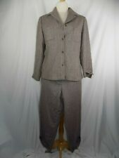 JONES NEW YORK 2 pc Women's 10 P Blazer Pants Purple & Taupe Suit