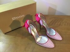 Ladies Heels Size 4, lightly worn, slightly used, pink spotty with bow from DUNE