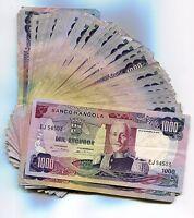 Angola 1972 1000 Escudos Marechal Carmona VF Banknote Money x 20 Piece Lot P103